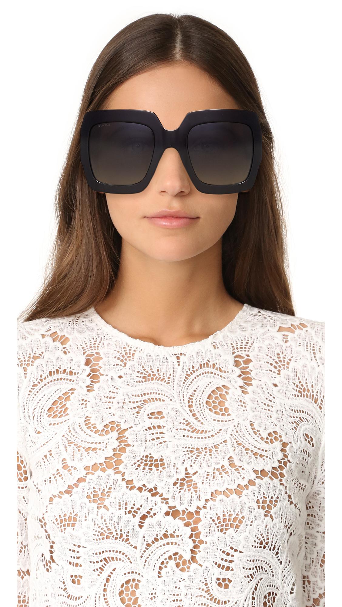 395798980995 Gucci Urban Pop Glitter Square Sunglasses | SHOPBOP
