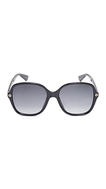 Gucci Sensual Romanticism Rectangle Sunglasses
