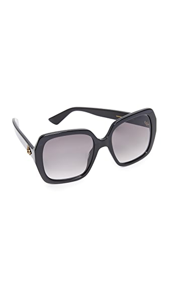 Gucci Sensual Romanticism Square Sunglasses at Shopbop
