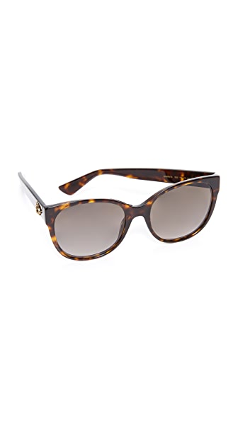 Gucci Sensual Romanticism Cat Eye Sunglasses - Dark Havana/Brown