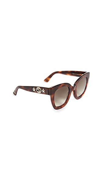 Gucci Urban Stars Rectangle Sunglasses at Shopbop