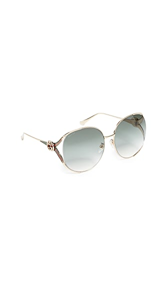 Gucci Urban Folk Oval Sunglasses at Shopbop