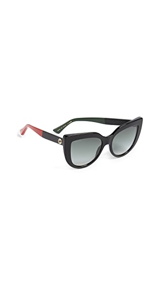 Gucci Cat Eye Flat Top Sunglasses at Shopbop