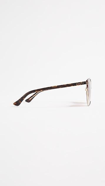 Gucci Солнцезащитные очки с роскошной отделкой