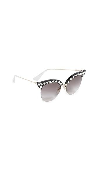 Gucci Pearlescent Sunglasses In Black/Grey