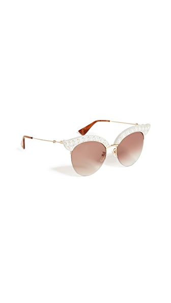 Gucci Pearlescent Sunglasses at Shopbop
