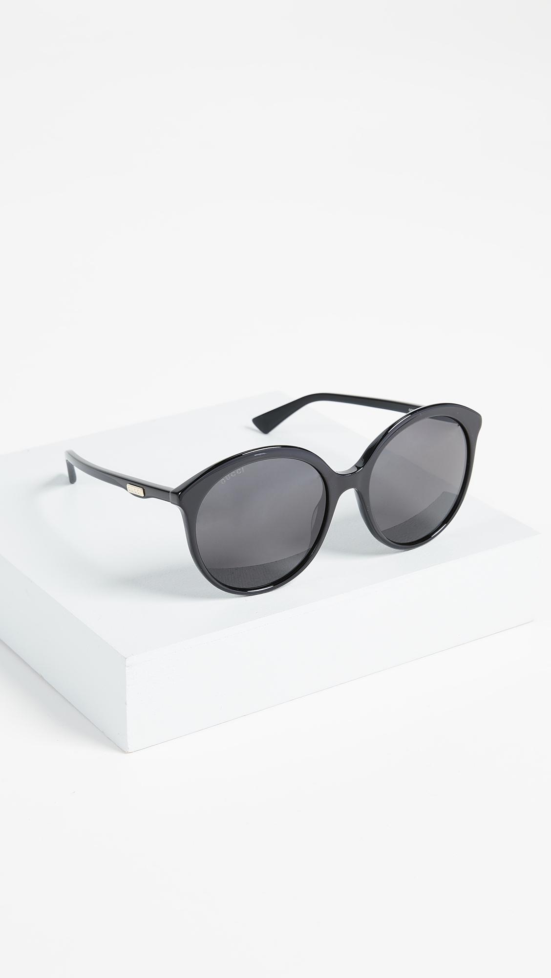 a5fd13e8f8 Gucci Round Monocolor Sunglasses
