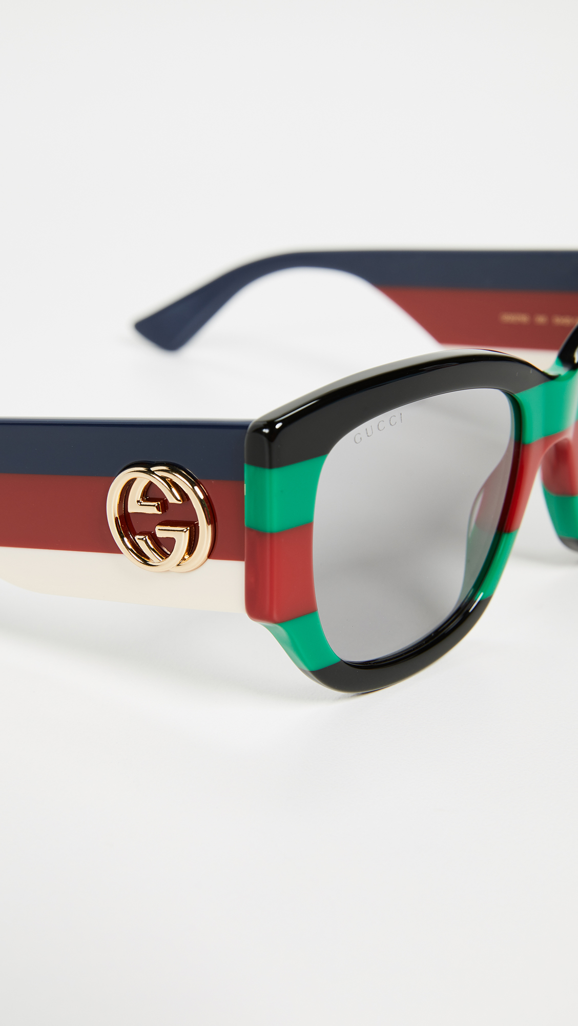 576e37f5568 Gucci sylvie bold cat eye sunglasses shopbop jpg 1128x2000 Leather gucci  eyeglasses