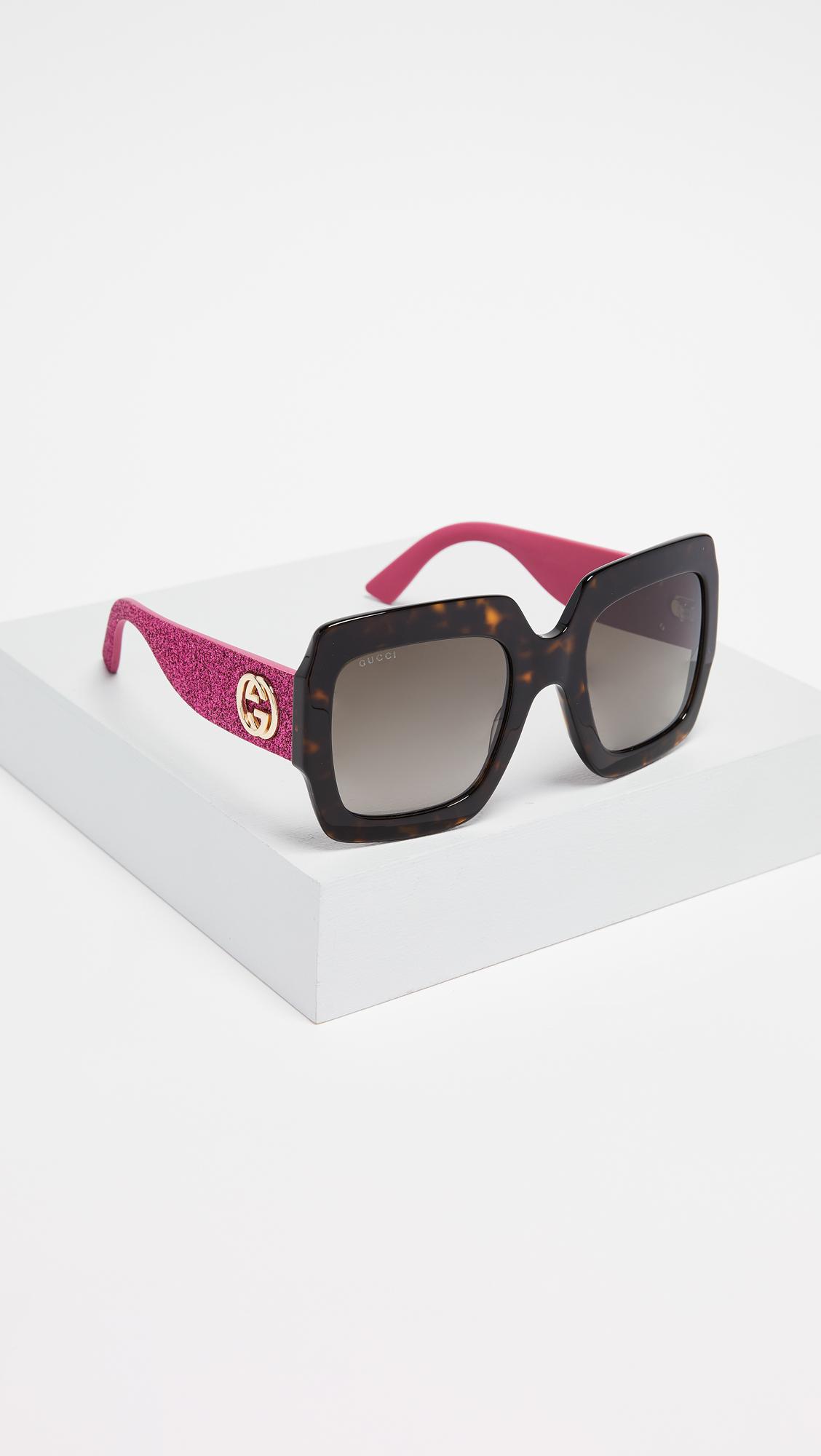 6944fe30bff Gucci Pop Glitter Iconic Oversized Square Sunglasses