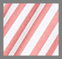 Fiery Red/White Stripe