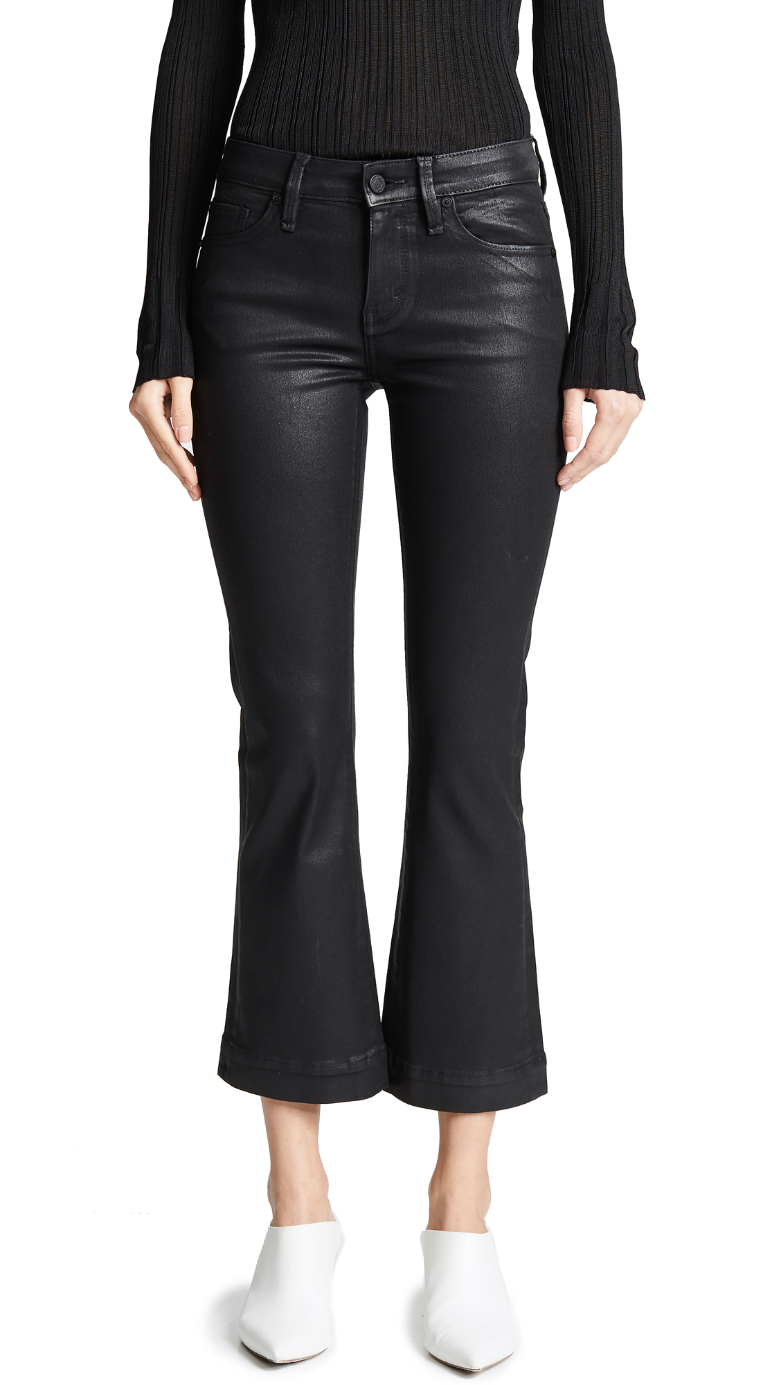 Buy Habitual online - photo of Habitual Kaira Ankle Semi Flare Coated Jeans