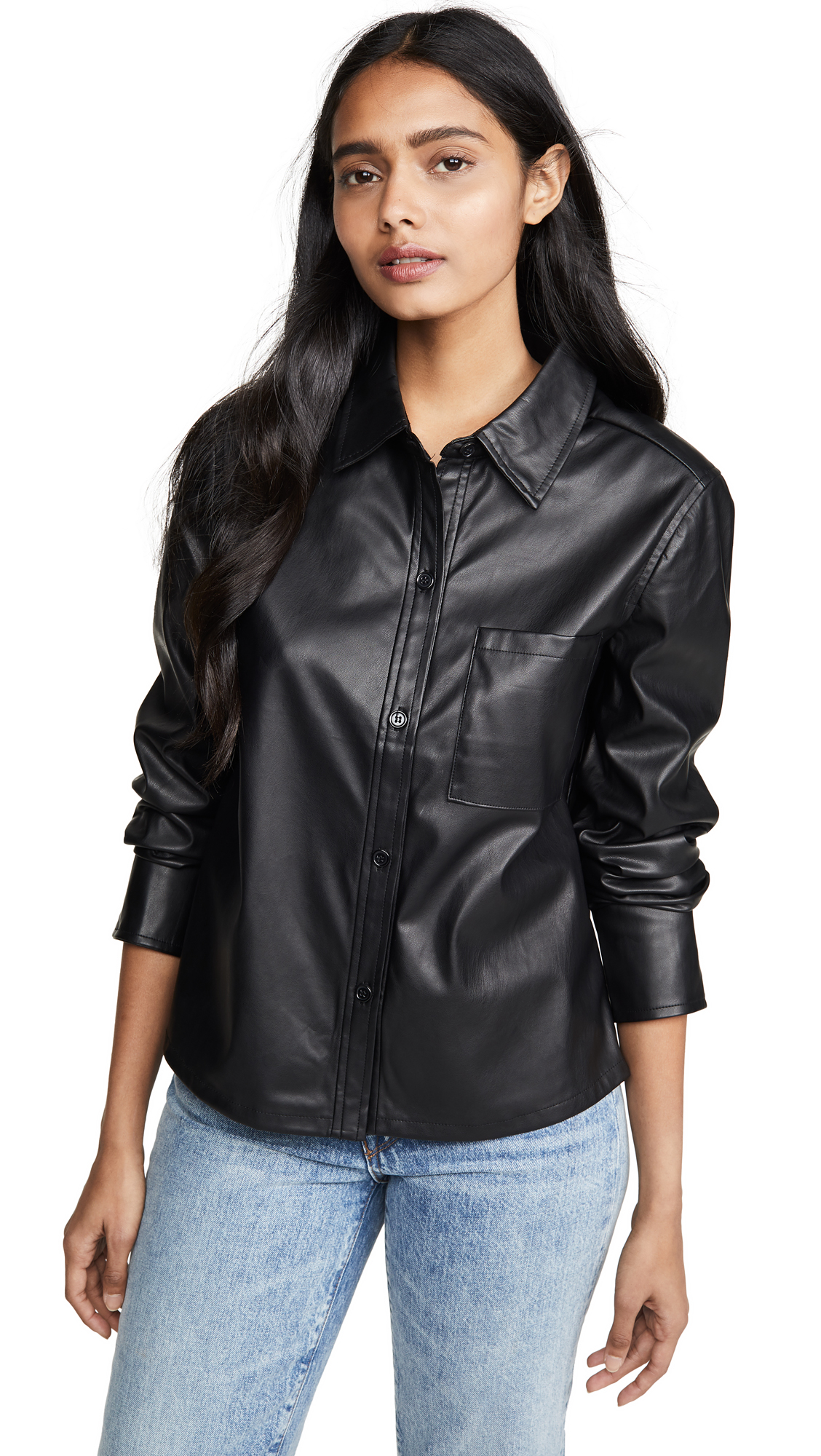 Buy Habitual online - photo of Habitual Taylor Faux Leather Shirt