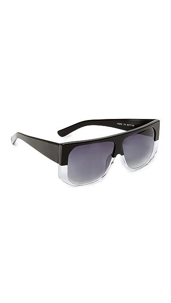 Hadid Eyewear Frequent Flyer Sunglasses In Two Tone Black Crystal/Grey