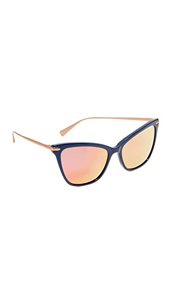 Hadid Eyewear Jet Setter Sunglasses In Navy/Rose Gold