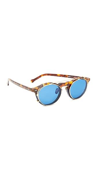 Hadid Eyewear Clip Sunglasses - Two Tone Tort/Navy