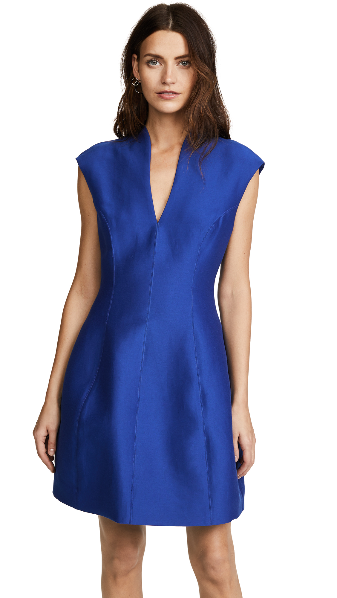 Halston Heritage Cap Sleeve Structured Dress - Indigo