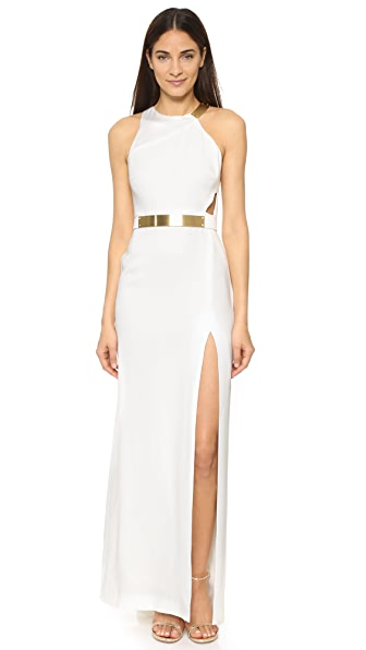 Halston Heritage Gown with Split Detail