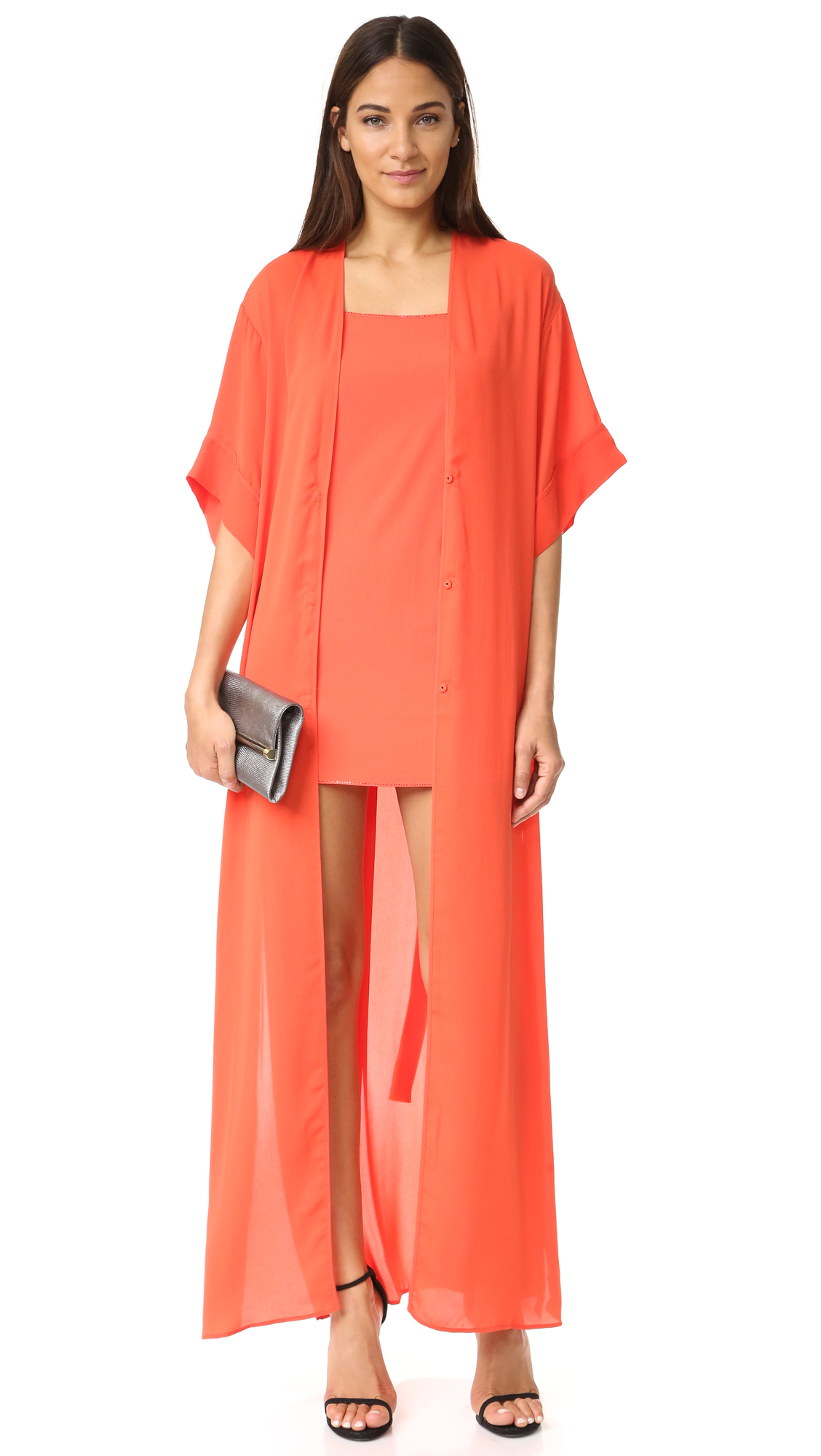 Halston Kimono Gown Shopbop