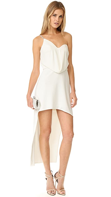 Halston Heritage One Shoulder Draped Dress