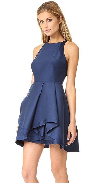 Halston Heritage High Neck Structured Dress