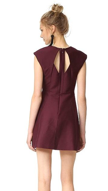 Halston Heritage Pleated Mini Dress