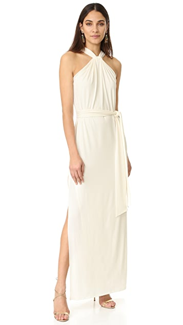 Halston Heritage Knot Drape Gown