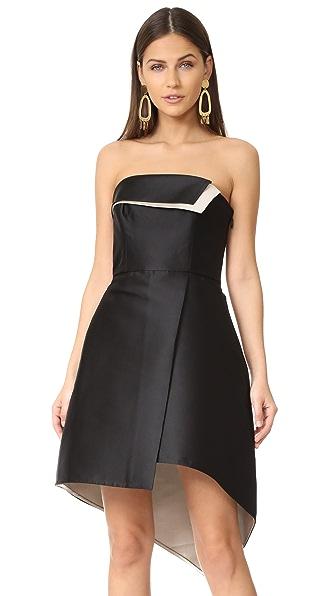Halston Heritage Структурированное платье без бретелек