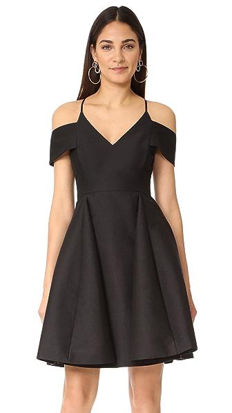 Halston Heritage Cold Shoulder Dress