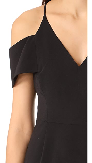 Halston Heritage Cold Shoulder Gown