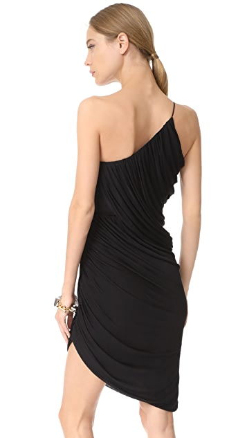 Halston Heritage One Shoulder Draped Dress