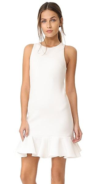 Halston Heritage Drop Waist Dress In Cream
