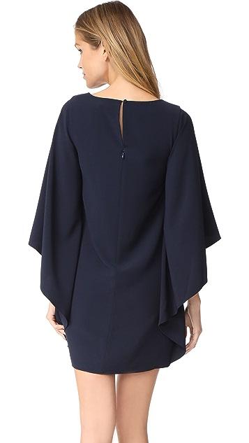 Halston Heritage Asymmetric Drape Dress