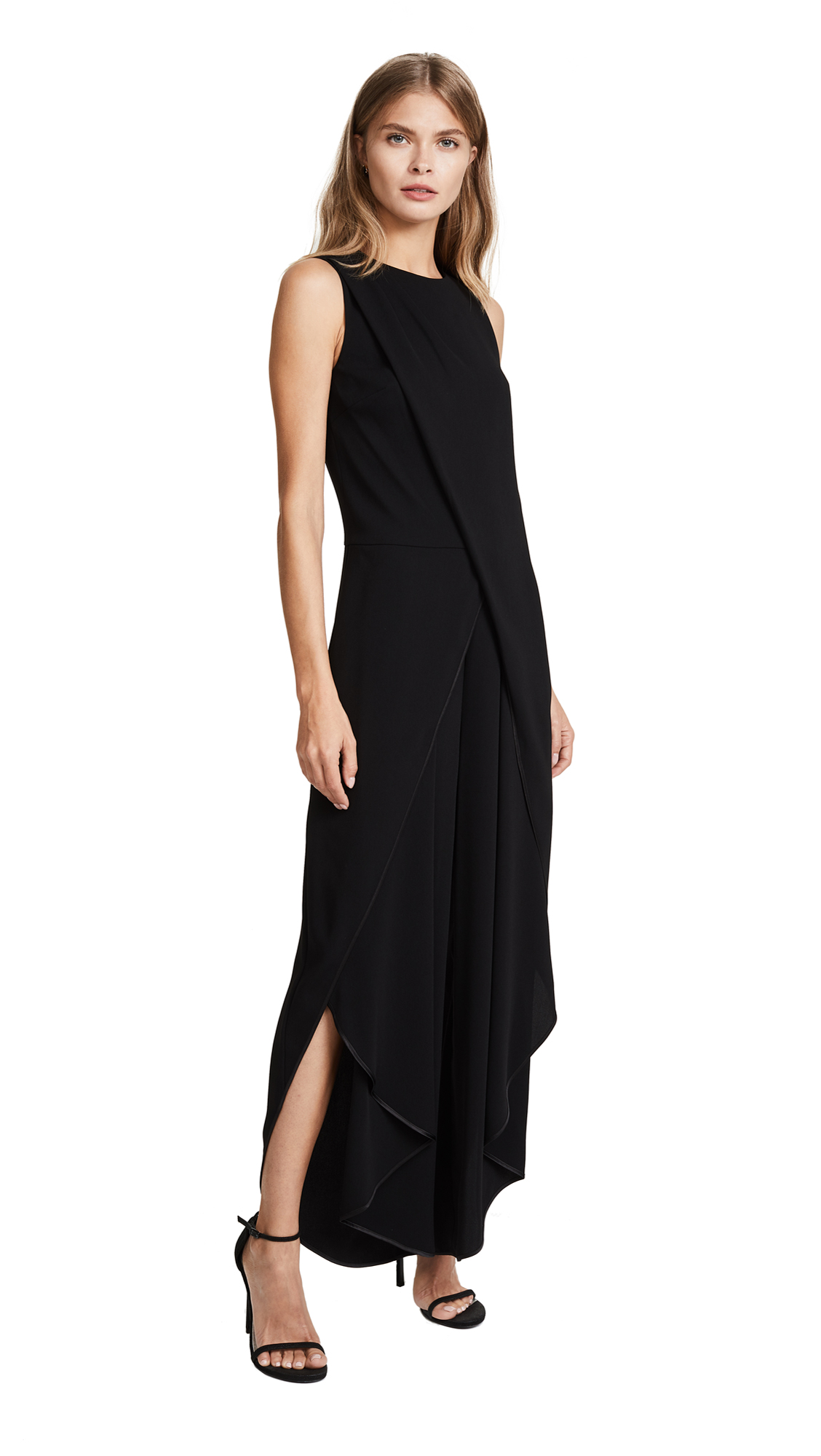 Halston Heritage Draped Jumpsuit - Black