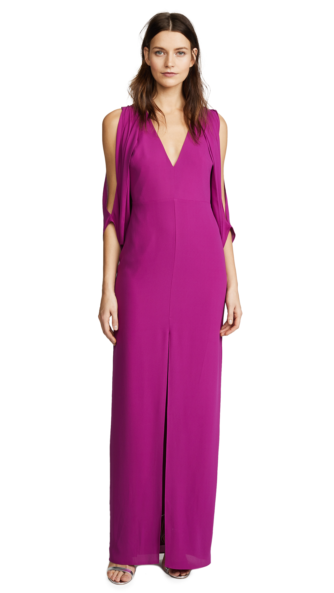 Halston Heritage Open Back Gown