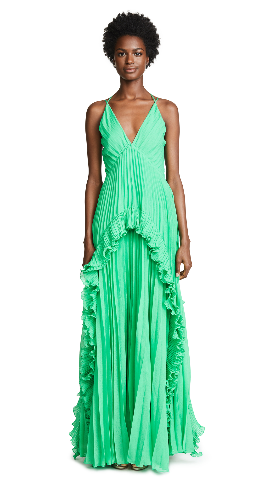 Halston Heritage Pleated Gown