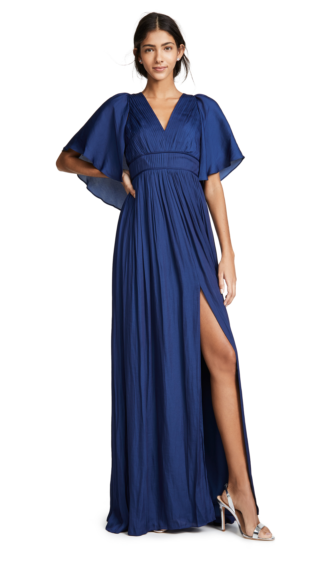 Halston Heritage Flowy Pleated Gown