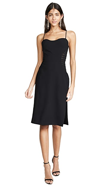 HALSTON Sleeveless Dress with Strip Applique
