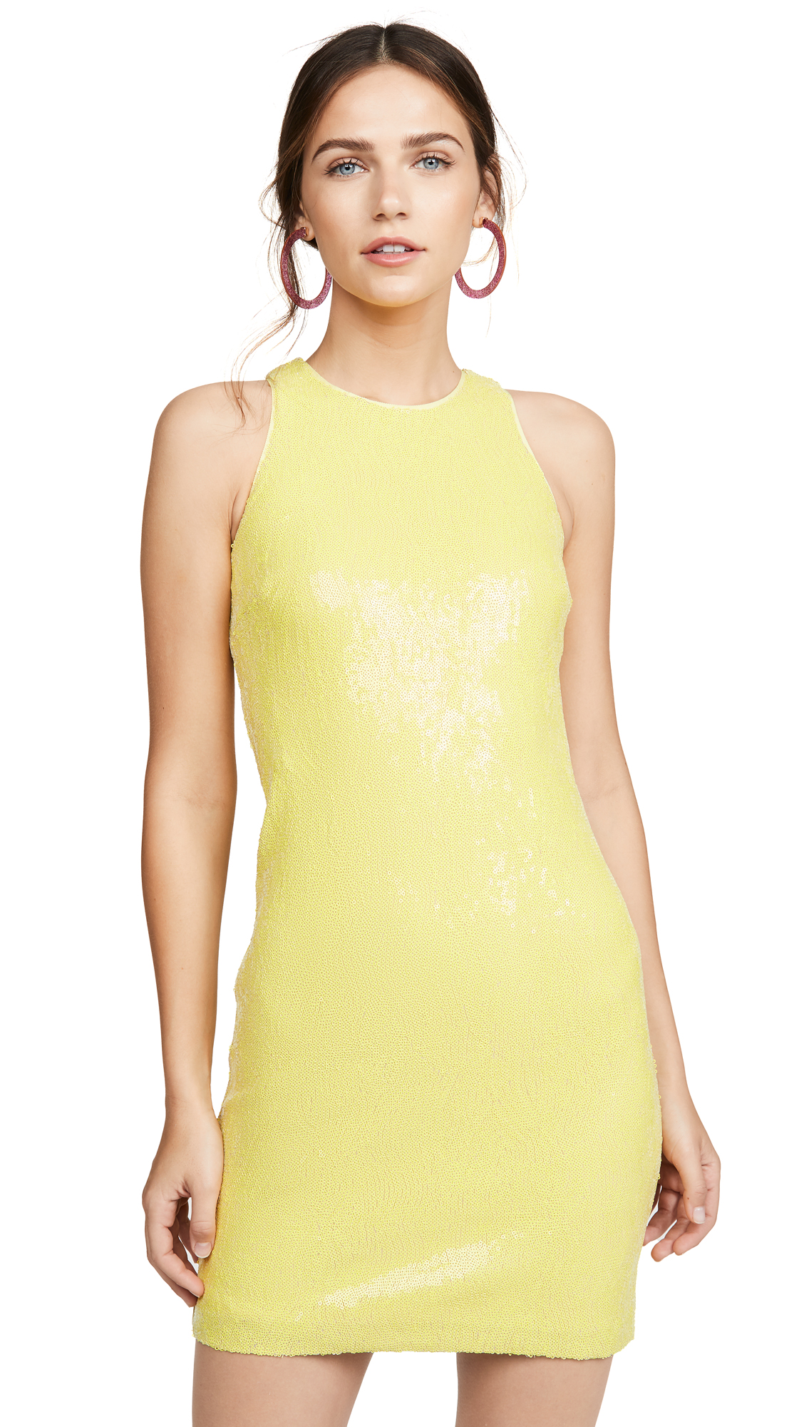 Buy HALSTON online - photo of HALSTON Sleeveless Sequin Dress