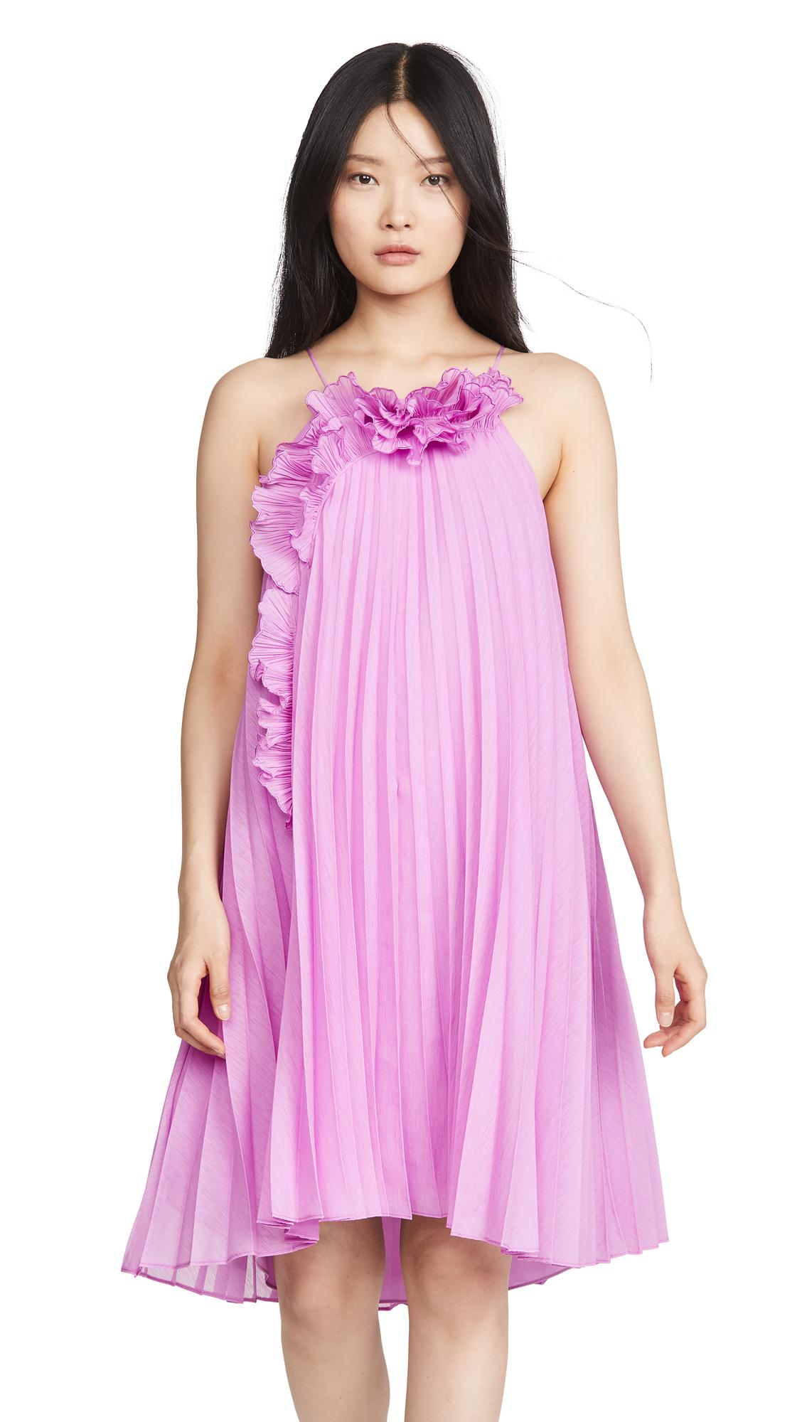 Buy HALSTON Pleated Ruffle Dress online beautiful HALSTON Clothing, Dresses