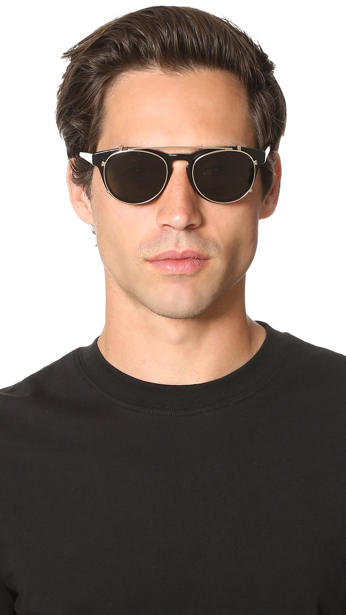 HAN Kj?benhavn Black & Gold Timeless Clip-On Sunglasses VhVyrwUg