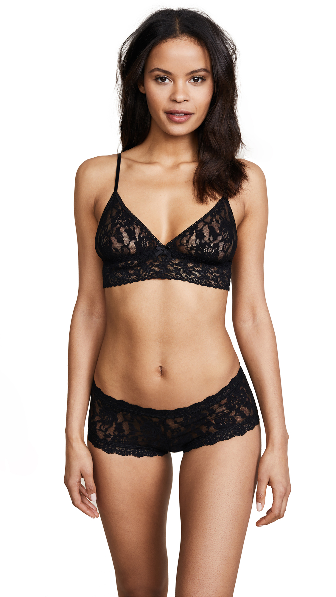 Hanky Panky Stretch Lace Soft Bra - Black