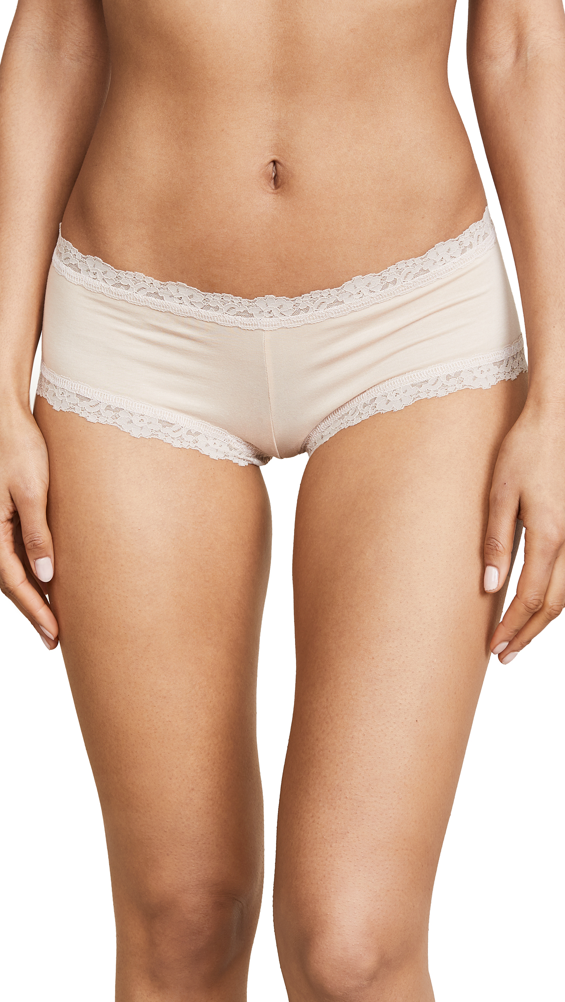 Hanky Panky Cotton with a Conscience Boy Shorts In Chai