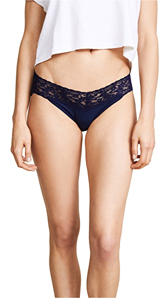 Hanky Panky Cotton with a Conscience V-Kini Briefs In Navy