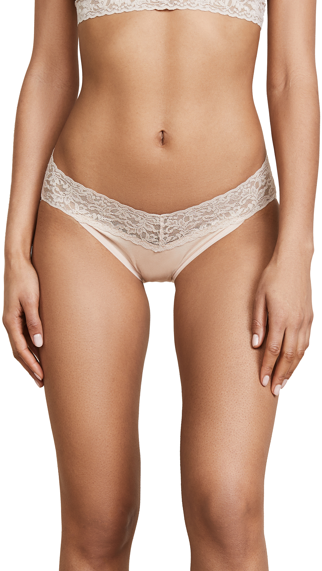 Buy Hanky Panky online - photo of Hanky Panky Cotton with a Conscience V-Kini Briefs