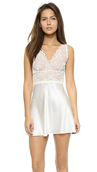 Hanky Panky Lady Catherine Silk Chemise In Light Ivory