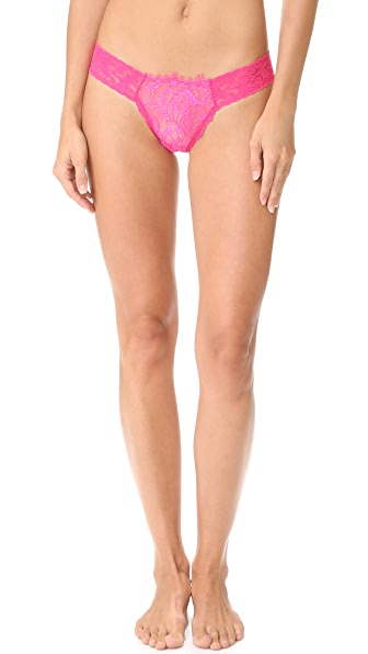 Hanky Panky After Midnight Wink Low Rise Diamond Thong In Tickle Pink