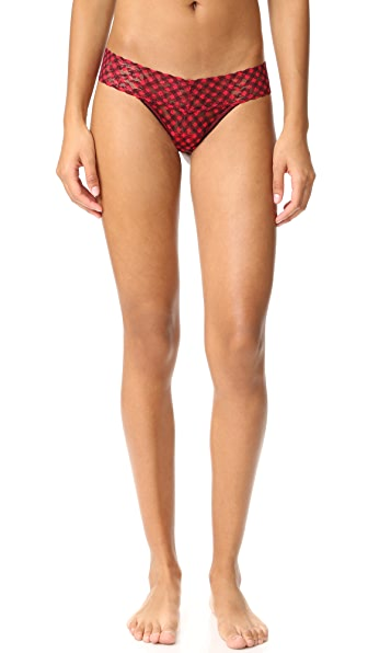 Hanky Panky Holiday Check Low Rise Thong