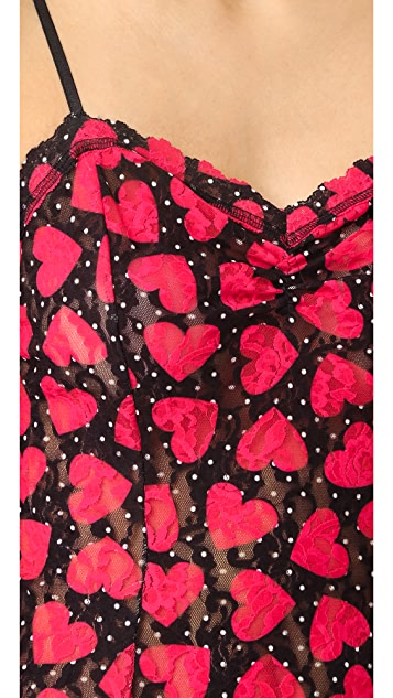 Hanky Panky Queen of Hearts Cigarette Girl Chemise