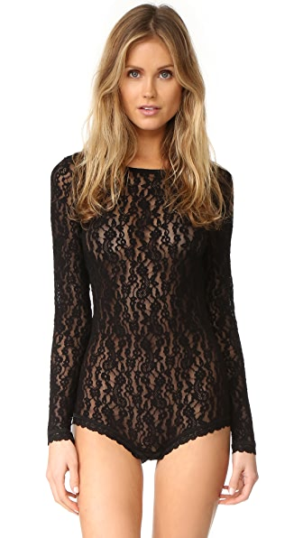 Hanky Panky Ariel Lace Long Sleeve Bodysuit