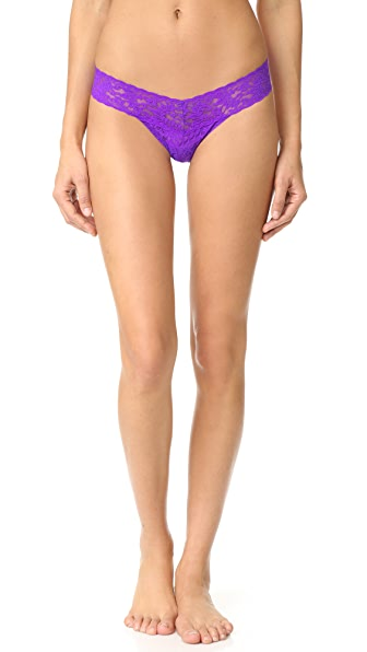 Hanky Panky Signature Lace Petite Low Rise Thong - Royal Purple